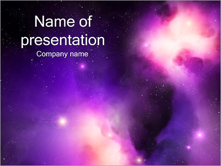 galaxy - powerpoint template - smiletemplates, Powerpoint templates
