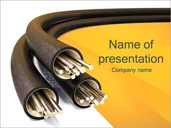 ケーブル PowerPointプレゼンテーションのテンプレート