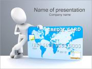 Man with Credit Cart PowerPoint Templates