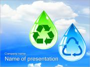 Drops with Recycle Sign PowerPoint Templates