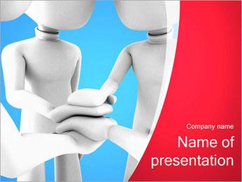Conceito da equipe Modelos de apresentações PowerPoint - Slide 1