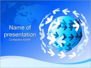 Sphere and Arrows PowerPoint Templates