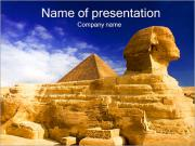 Sphinx and Great Pyramid PowerPoint Templates