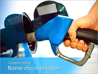 Filling up Car PowerPoint Template