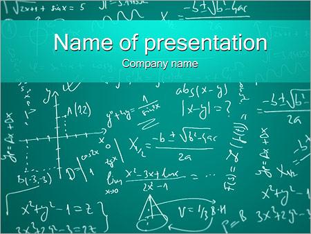 Mathematics Formulas Powerpoint Template Backgrounds Google