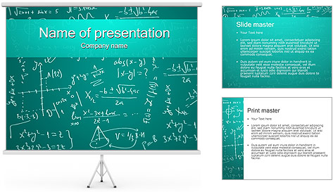 powerpoint math templates. blog grid. math powerpoint template, Powerpoint