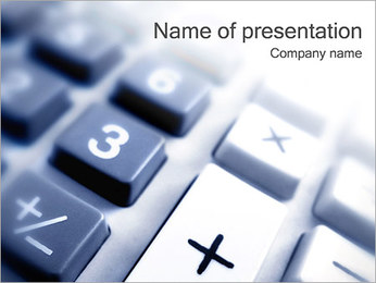 Calculator Keys PowerPoint Template