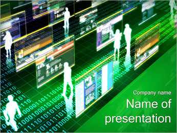 Virtual Concept PowerPoint Template - Slide 1