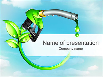 Green Fuel Concept PowerPoint Template