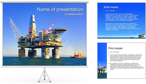 Oil Platform PowerPoint Template