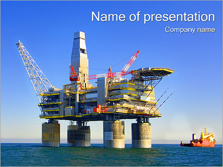 Nautical powerpoint template smiletemplates oil platform powerpoint templates toneelgroepblik Image collections