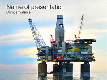 石油産業 PowerPointプレゼンテーションのテンプレート
