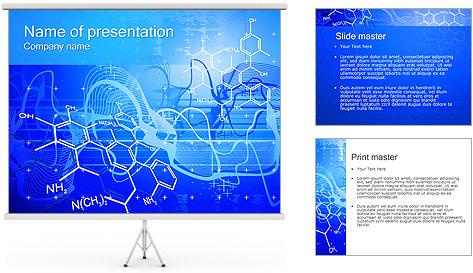 Formules chimiques Modèles des présentations  PowerPoint