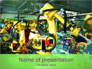 Robots in Car Industry PowerPoint Templates
