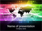 Красочные карта мира Шаблоны презентаций PowerPoint