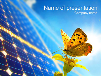 Eco Friendly Energy I pattern delle presentazioni del PowerPoint