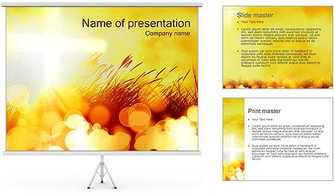 Champ jaune Modèles des présentations  PowerPoint