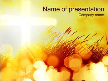 Champ jaune Modèles des présentations  PowerPoint - Diapositives 1