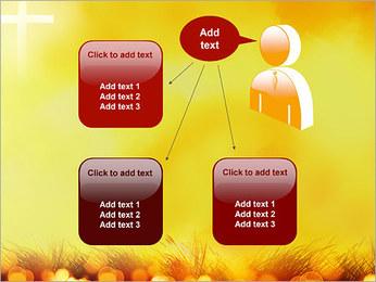 Champ jaune Modèles des présentations  PowerPoint - Diapositives 12
