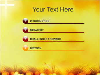 Champ jaune Modèles des présentations  PowerPoint - Diapositives 3