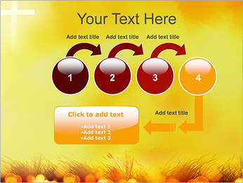 Champ jaune Modèles des présentations  PowerPoint - Diapositives 4