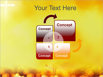 Champ jaune Modèles des présentations  PowerPoint - Diapositives 5