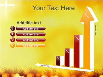 Champ jaune Modèles des présentations  PowerPoint - Diapositives 6