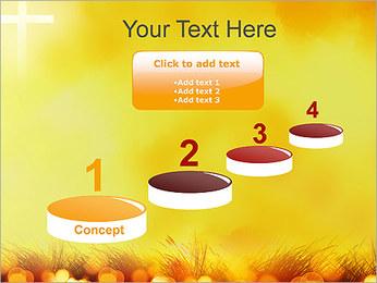 Champ jaune Modèles des présentations  PowerPoint - Diapositives 7