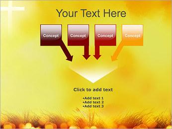Champ jaune Modèles des présentations  PowerPoint - Diapositives 8