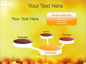 Champ jaune Modèles des présentations  PowerPoint - Diapositives 9
