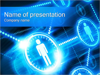 People Network Concept Sjablonen PowerPoint presentatie