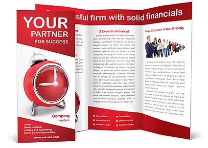 Red Clock Brochure Template Design Id 0000002270 Smiletemplates
