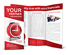 Red Clock Brochure Template