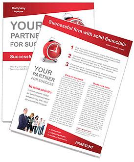 red clock newsletter template design id 0000002270