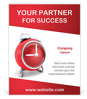 Red Clock Poster Template Amp Design Id 0000002270