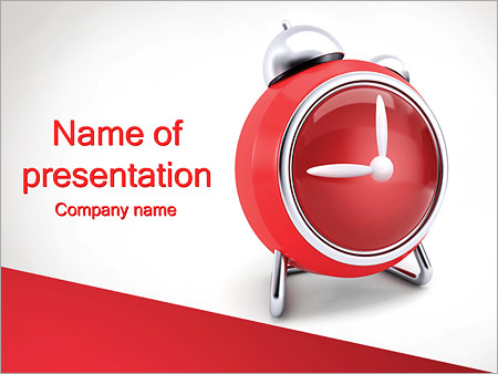 Red Clock PowerPoint Templates