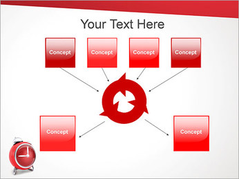 Red Clock PowerPoint Template - Slide 10