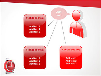 Red Clock PowerPoint Template - Slide 12