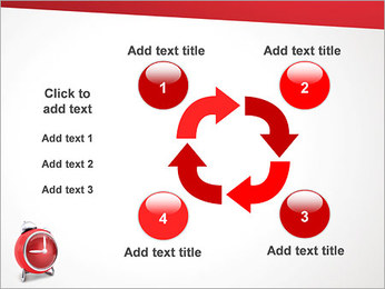 Red Clock PowerPoint Templates - Slide 14