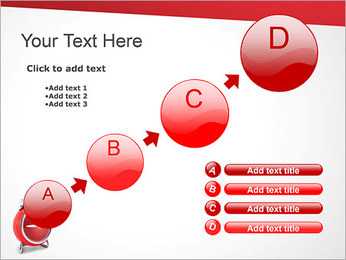 Red Clock PowerPoint Template - Slide 15