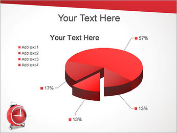 Red Clock PowerPoint Template - Slide 19