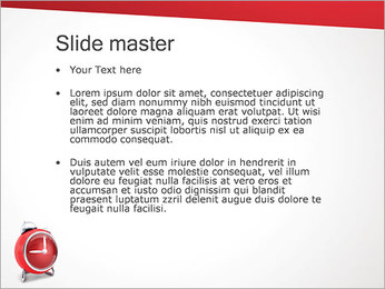 Red Clock PowerPoint Template - Slide 2