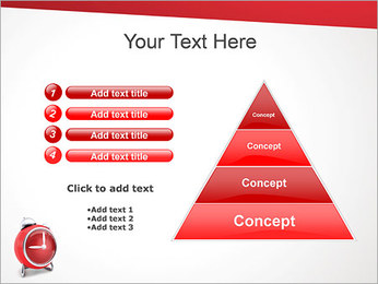 Red Clock PowerPoint Templates - Slide 22