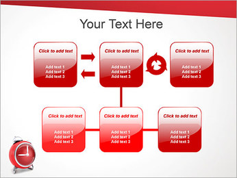Red Clock PowerPoint Template - Slide 23