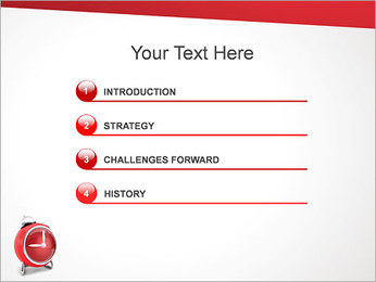 Red Clock PowerPoint Templates - Slide 3