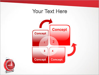 Red Clock PowerPoint Template - Slide 5