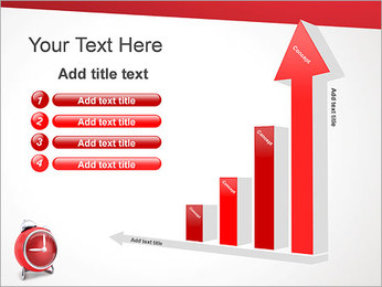 Red Clock PowerPoint Templates - Slide 6