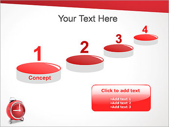 Red Clock PowerPoint Template - Slide 7