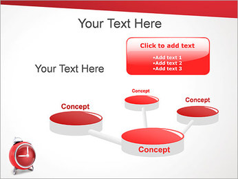 Red Clock PowerPoint Template - Slide 9