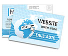 Web Concept Postcard Template